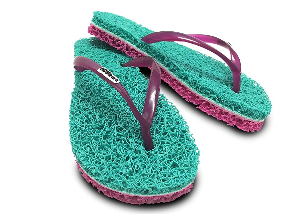 722029aef Amazon.com  Lookat Sandals Flip Flops Massage Foot Scrub Exfoliating Stress  Relief Slippers Aurora Collection  Shoes