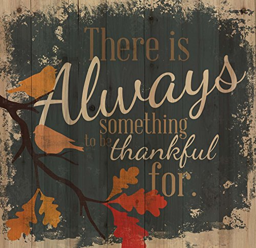There is Always Something to be Thankful For Bird Leaves 24 x 25 Wood Pallet Wall Art Sign Plaque