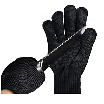 Engshwn resistente al corte guantes de alto rendimiento de malla de alambre de acero inoxidable cuchillo Tijeras manos cuerpo EN388 Nivel 5 guantes de ...