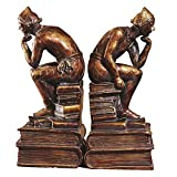 LPY-Set of 2 Bookends Resin Thinker Style Handicrafts, Book Ends for Office or Study Room Home Shelf Decorative