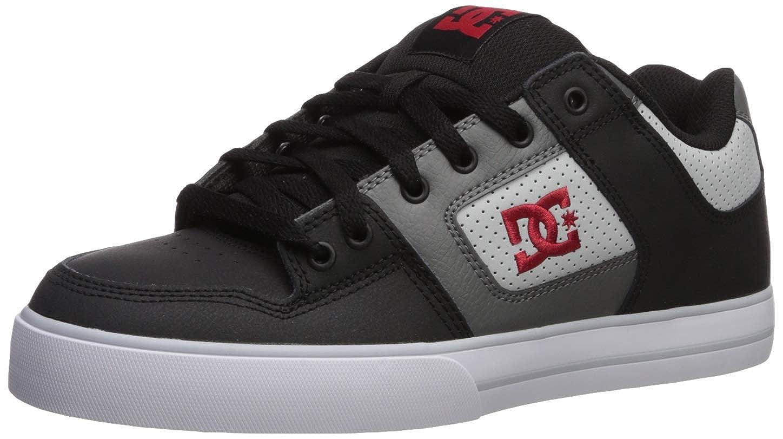 Noir gris Rouge DC chaussures Pure Mens chaussures D0300660, Baskets mode homme 46.5 EU