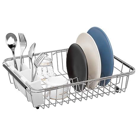 Amazon.com: Sobre el escurridor de platos del fregadero ...