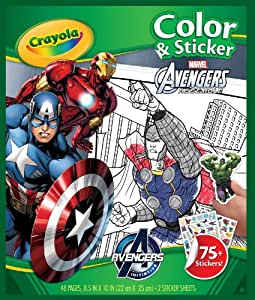 Colour and Sticker Book Crayola Marvel Avengers Colour and Sticker Book, (59652)