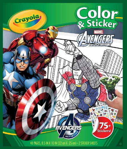 Crayola Avengers Color & Sticker Book, Easter Books for Kids, Age 3, 4, 5, 6