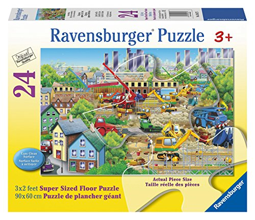 Ravensburger Busy Building Floor 24 Piece Jigsaw Puzzle for Kids – Every Piece is Unique, Pieces Fit Together Perfectly by Ravensburger