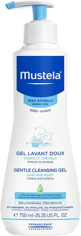 Mustela - Gel dermolimpiador lavante sin jabón cabello y cuerpo, 750 ml
