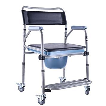 shkd duschstuhl mit rdern kommode stuhl und gepolsterte toilette sitz dusche dusche stuhl dusche rollstuhl rollstuhl - Sitz Stuhl Fur Dusche