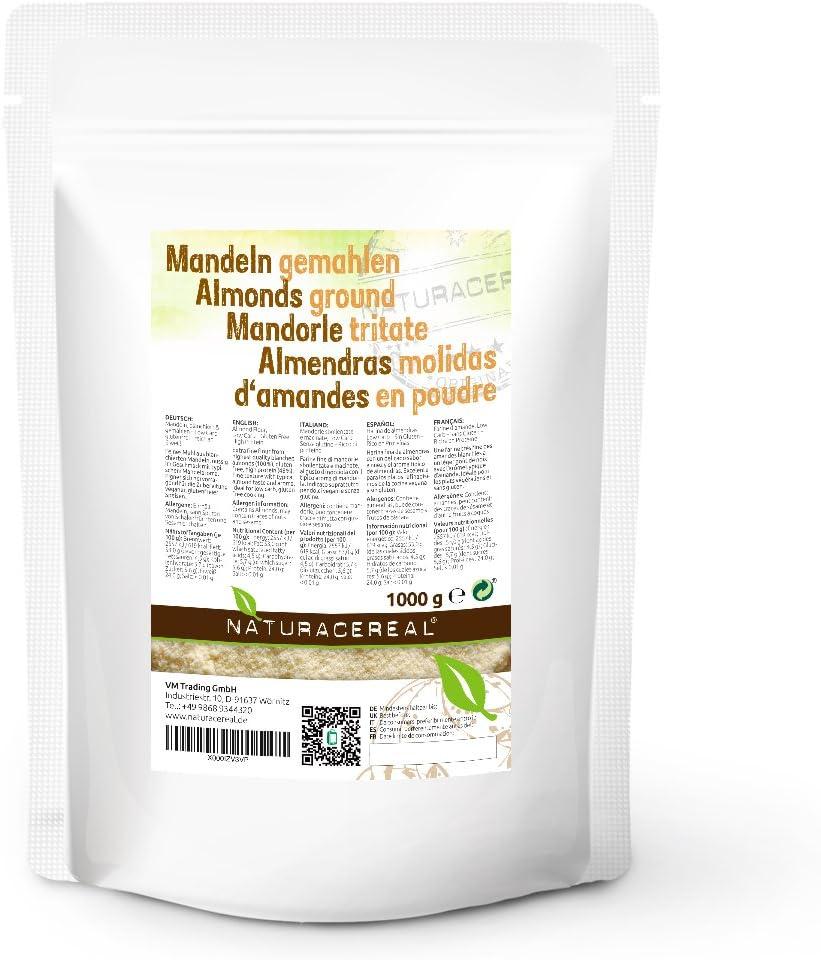 Harina de almendras 1Kg - NATURACEREAL | Libre de gluten | Apto ...
