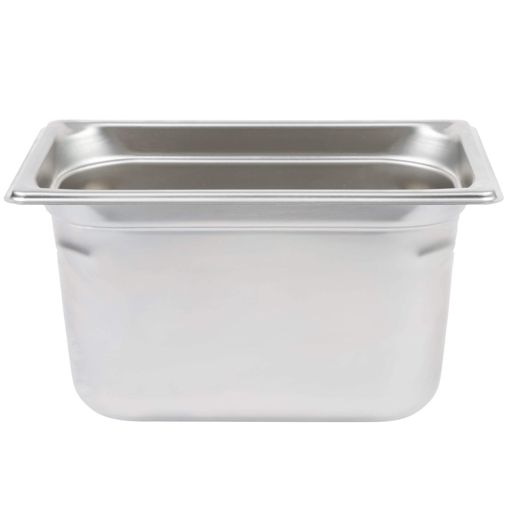 TableTop King 90462 Super Pan 3 1/4 Size Anti-Jam Stainless Steel Steam Table/Hotel Pan - 6'' Deep by TableTop King