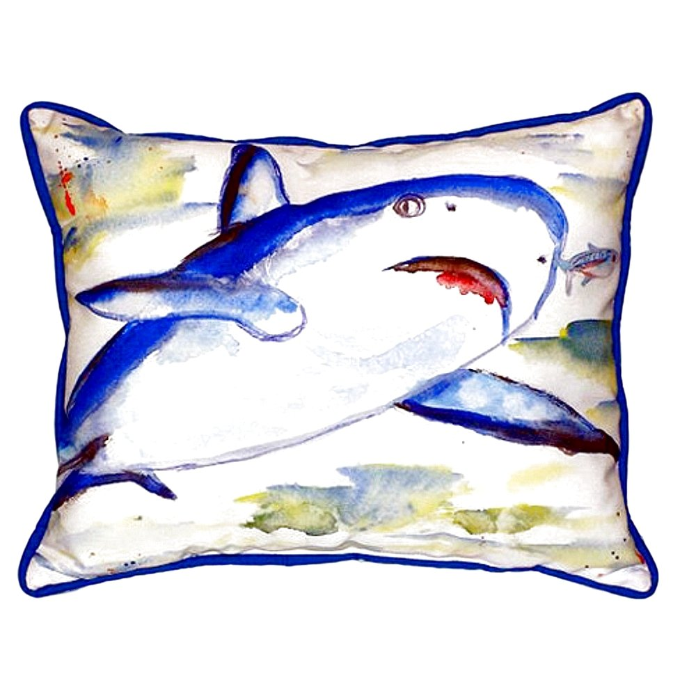 Betsy Drake SN213 Shark Small Indoor/Outdoor Pillow 11' x14'