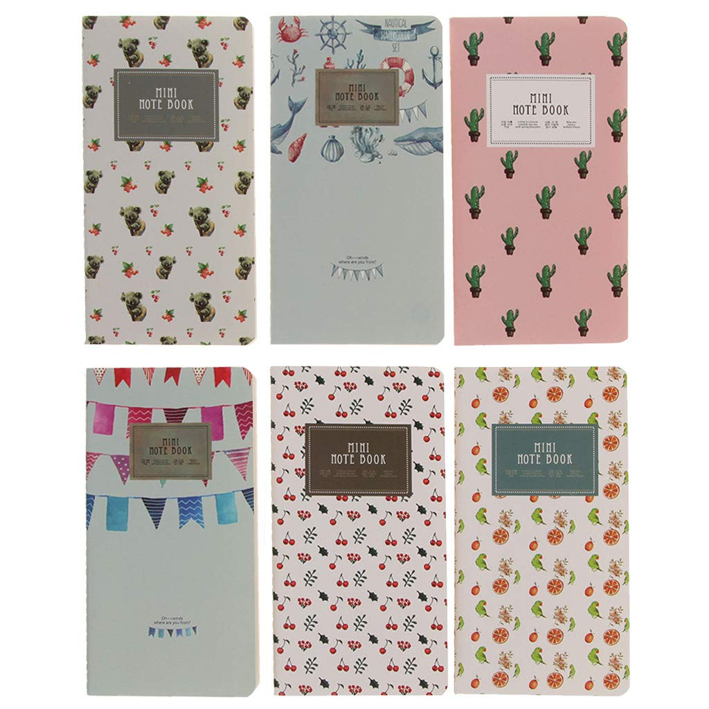JUNESUN Mini Diary Notebook Monthly Planner Paper Journal Travel Planner Notepad 48 Page