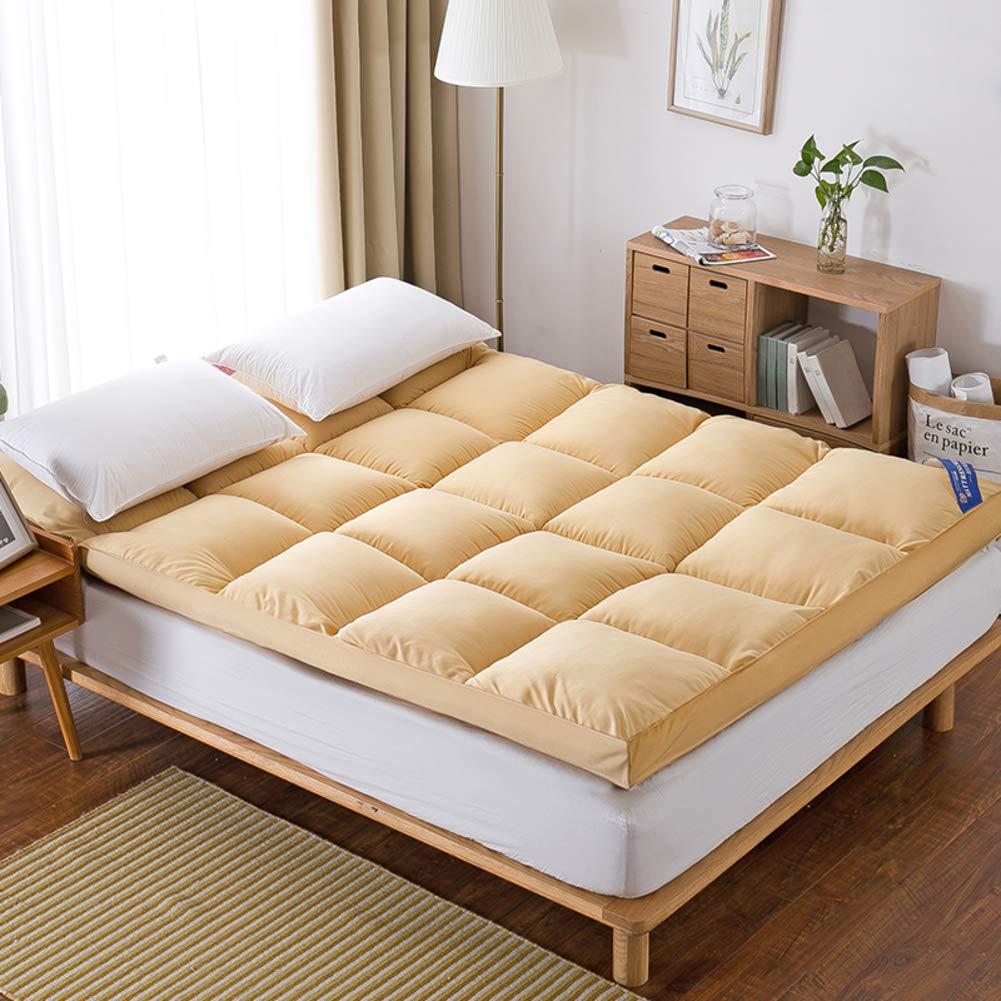 Love Home Tatami Matratzenauflage, atmungsaktiv, japanische Vierjahreszeiten, Studenten-Schlafmatratze, Schlafmatte, Schaumstoff, gelb, 180x200cm(71x79inch)