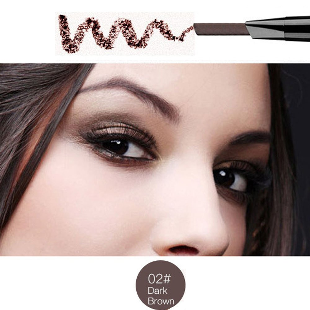 Magical Halo Precision Waterproof Brow Liner Double Ended Eyebrow Pencil With Eyebrow Brushes Tools 5 Colors Light Brown Pack Of 1