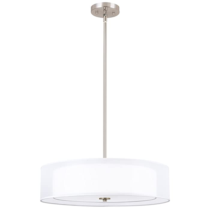 Top 10 Brushed Nickel Home Double Pendantlighting Fixtures Ceiling