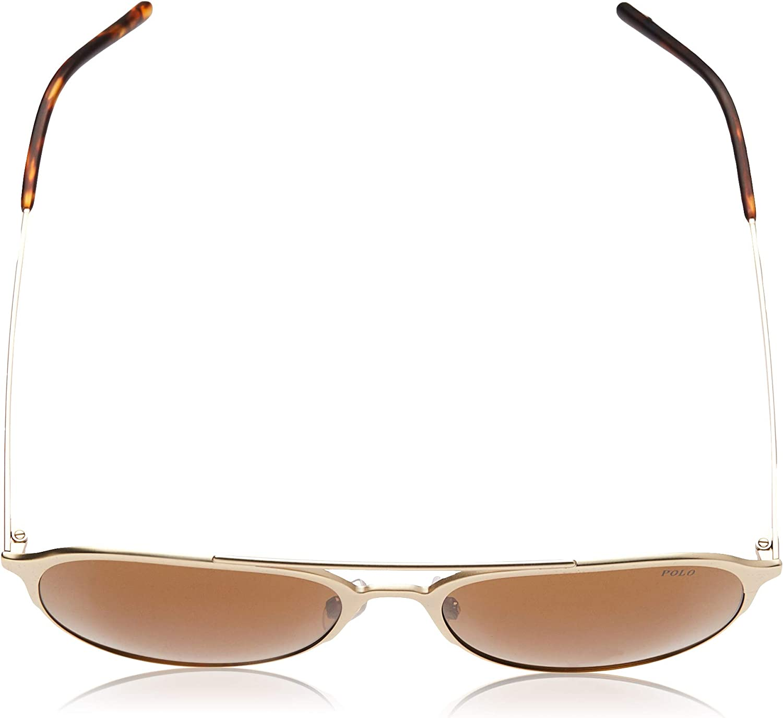 Polo 0PH3115 Gafas de sol, Aviador, 58, Pale Matte Gold: Amazon.es ...