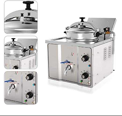 58L Fryer Oil Filter Machine Commercial Oil Filtration System w// Stainless Lid