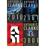 Arthur C. Clarke Science Fiction 4 Books Bundle Collection (2001: A Space Odyssey, 2010: Odyssey Two, 3001: The Final Odyssey,2061: Odyssey Three)