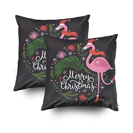Amazon.com: Musesh Pack of 2 Christmas Christmas Flamingo ...