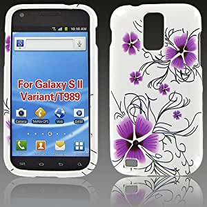 Samsung T989 (Galaxy S II) Purple Petal Flower Protective Case