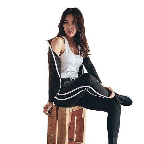 XYAIPR Set de Yoga para Mujer, Color Sólido, Corte Ajustado ...