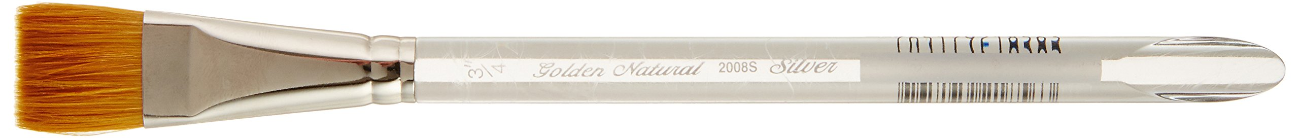 Silver Brush 2008S-034 Golden Natural Hair and Taklon Short Handle Blend Brush, Square Wash, 3/4-Inch