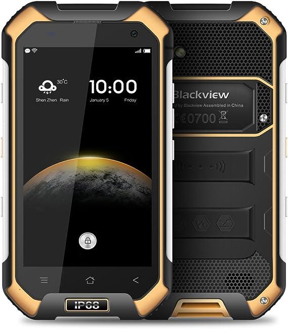 Blackview Rugged Smartphone, BV6000 4G Dual SIM Mobile Phone with IP68 Waterproof/Shockproof/Dustproof, 5.0MP+13.0MP Camera, 4500mAh Battery,32GB Huge ...