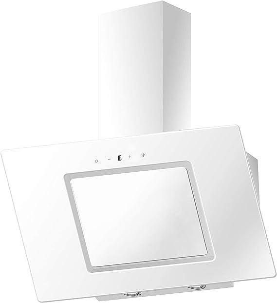 PKM S26-90BWTY - Cubierta de pared (cristal, 90 cm, iluminación LED, sin cabezal, con aspiración), color blanco: Amazon.es: Grandes electrodomésticos