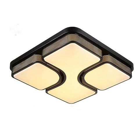 MCTECHR Modern Deckenleuchte 48W LED Deckenlampe Panel Lampe Energiespar Licht Fur Wohnzimmer Wandlampe Schwarz Acryl