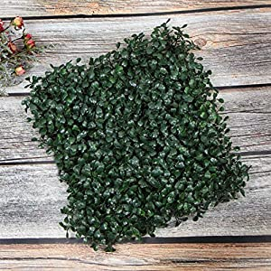 "ULAND Artificial Hedges Panels, Boxwood Greenery Ivy Privacy Fence Screening, Home Garden Outdoor Wall Decoration, 20""x20"" per pc 52"