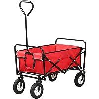Folding camping multi-function shopping cart R-2020, red