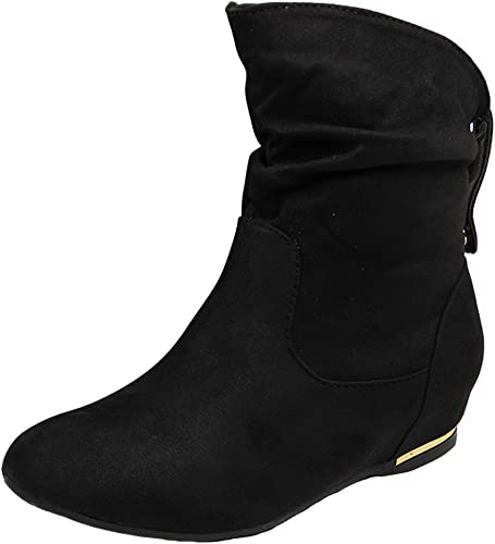 Womens Ladies Faux Suede Pull On Flat