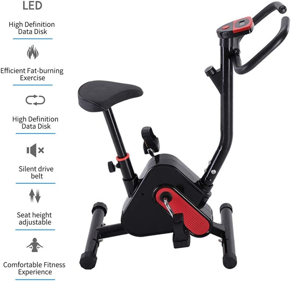 WuoooLi Bicicleta de Spinning, Asiento Ajustable,Monitor LCD ...