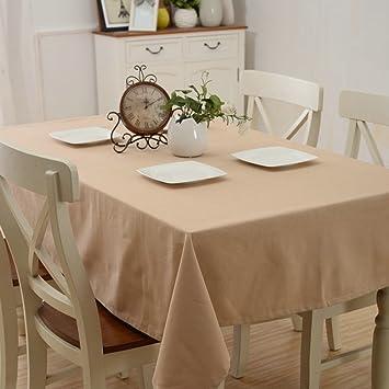 LU Süßigkeit-Farben-Baumwollhaushalt-Stab-Tischdecke-Staub-Persenning-Tuch-rechteckige Tischdecke ( farbe : Light Coffee , gr