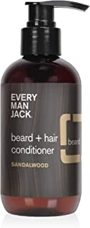 product image for Every Man Jack Beard + Hair Conditioner - Sandalwood | 6.7-ounce - 1 Bottle | Naturally Derived, Parabens-free, Pthalate-free, Dye-free, and Certified Cruelty Free