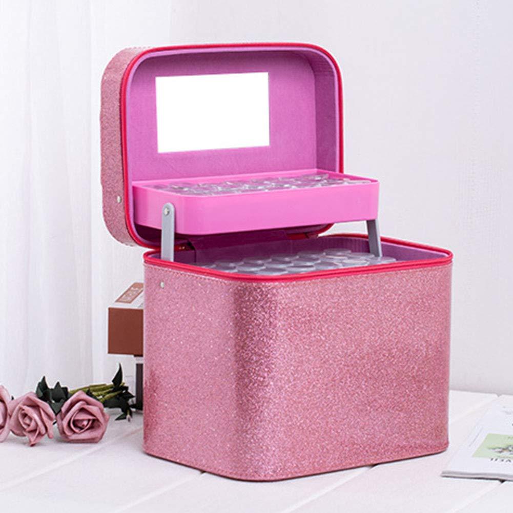 Noir Fermeture Design Haute Capacit/é 126 Bouteille PU Diamant Peinture Maquillage Rangement /Étui Outil Diamant Peinture Sac Perles Organisateur Accessoires Diamant Broderie Bo/îte