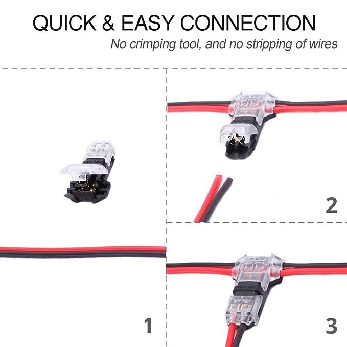 Wire Connectors - Pack of 12 low voltage wire T tap connectors T ...