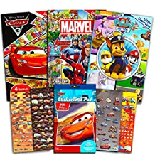 Look and Find Books Super Set Kids Toddlers Boys -- 3 Find It Books Featuring Disney Cars, Marvel Super Heroes and Paw Patrol (Bonus Stickers)