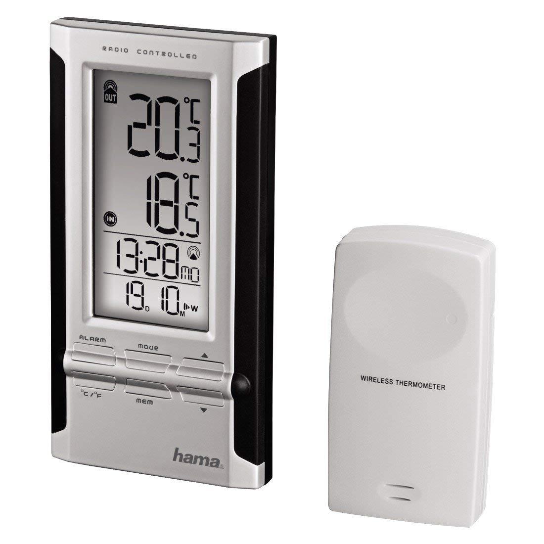 Amazon com : Hama Electronic Weather Station Ews-180, Black / Silver