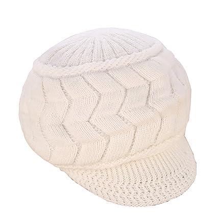 Tukistore Caliente Gorro de Punto Crochet Moda Boina de Mujeres ...