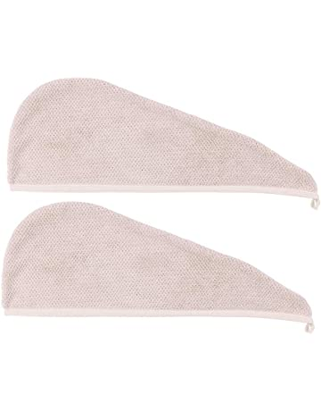 Lurrose Toallas para Secar el Pelo para Mujer de Punto Sombrero para Secar el Pelo para