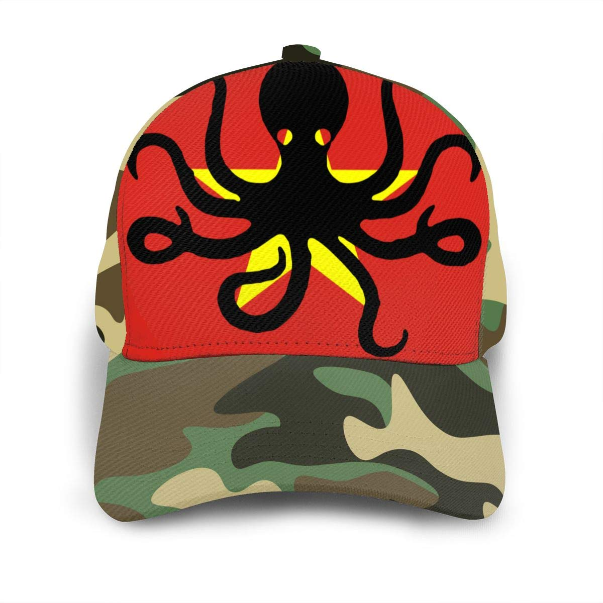 Y94OIW@MAO Octopus Vietnam Flag Baseball Cap for Men and Women Cotton Snapback Cap