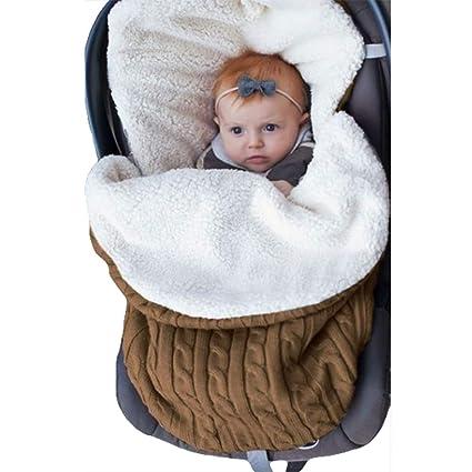 Vimbhzlvigour - Saco de Dormir para bebé (Tejido Grueso, cálido) marrón marrón