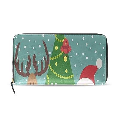 Precioso saludo Ciervos navideños Largo Pasaporte Embrague ...