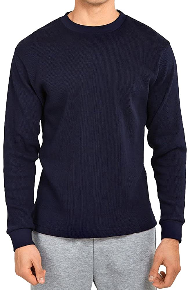 TOP PRO Men's Classic Fit Waffle-Knit Heavy Thermal Shirt TPAT200