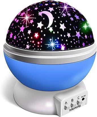 Moredig Lampara Proyector Infantil, Proyector de Estrellas Luz ...