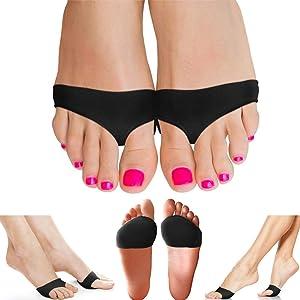 Copper Compression Metatarsal Pads for Women Men Guaranteed Highest Copper Foot Pads Ball of Feet Gel Ball of Foot Cushions Mortons Neuroma Sesamoiditis Metatarsul Incapsulitus Callus (Small/Medium)