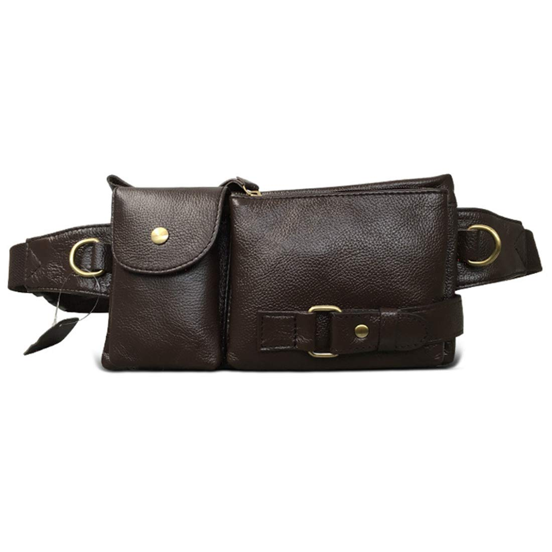 Color : Coffee Color RABILTY Belt Holster Bag Fanny Waist Pack Crossbody Bag for Men Boy Black Cowhide Travel Money Belt RFID Blocking