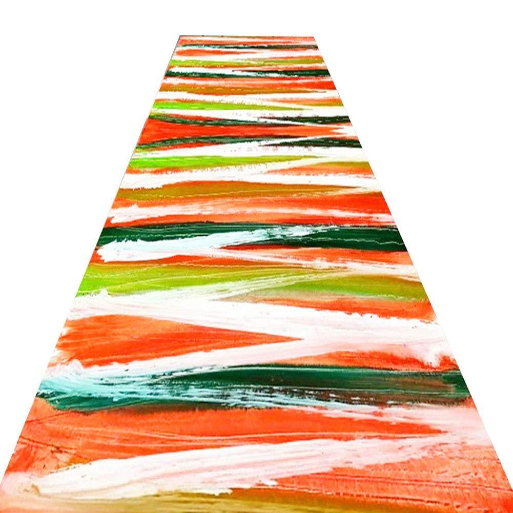 A LYQZ Le Couloir Anti-Rides Couleurant antidérapant de Long Tapis de Couloir de Polyester, Magasin Complet Peut être adapté aux Besoins du Client (Couleur   A, Taille   1.2  2m) 16m