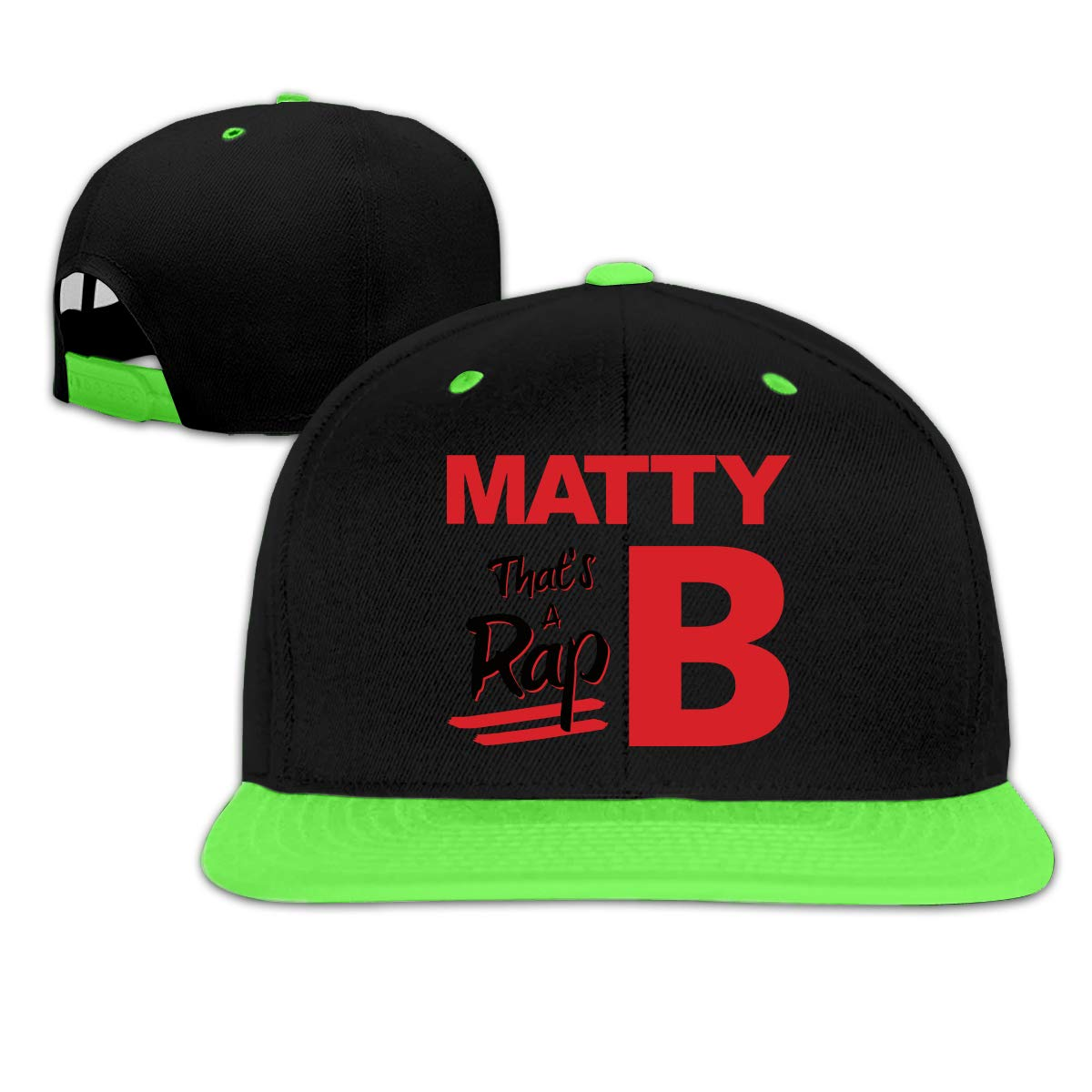 Dunpaiaa Custom Mattyb Rap Kids Girl Boy Hip Hop Baseball Cap Adjustable Snapback Hat Red