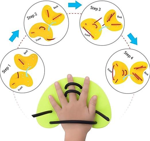 entrenamiento de brazos Swimxwin USF Finger Pad media paleta de nataci/ón